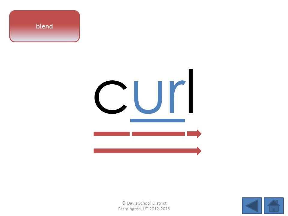 vowel pattern curl blend © Davis School District Farmington, UT 2012-2013