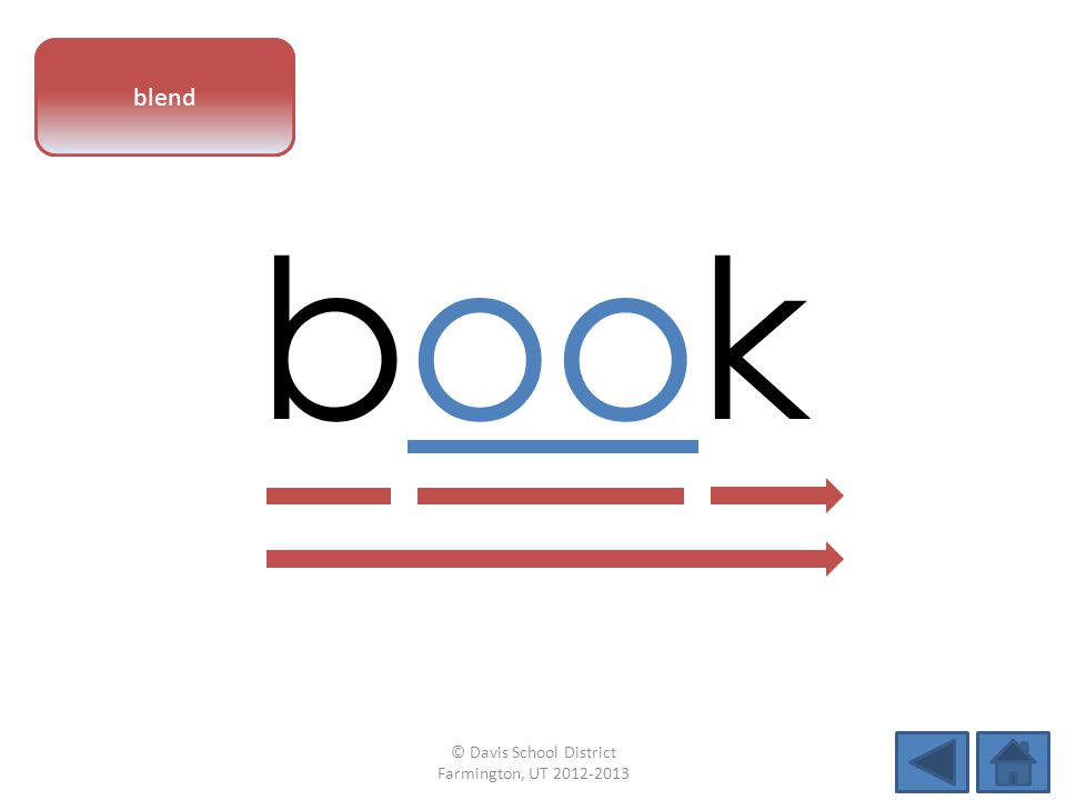 vowel pattern book blend © Davis School District Farmington, UT 2012-2013