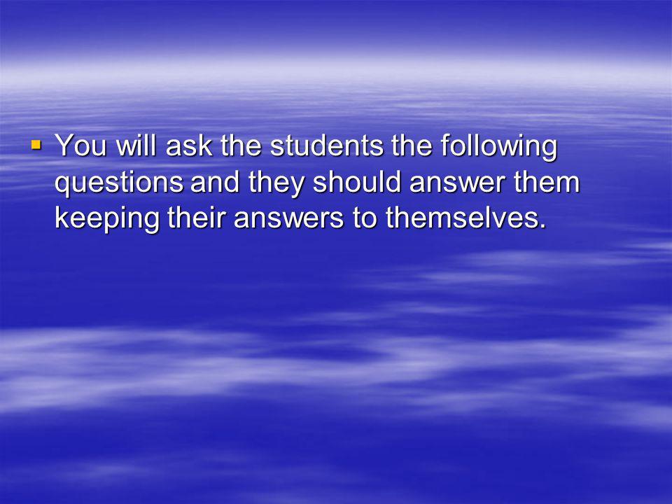 Go through the questions again.Go through the questions again.