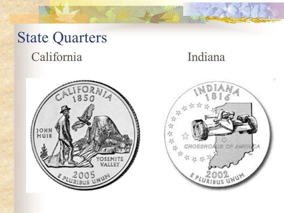 State Quarters CaliforniaIndiana