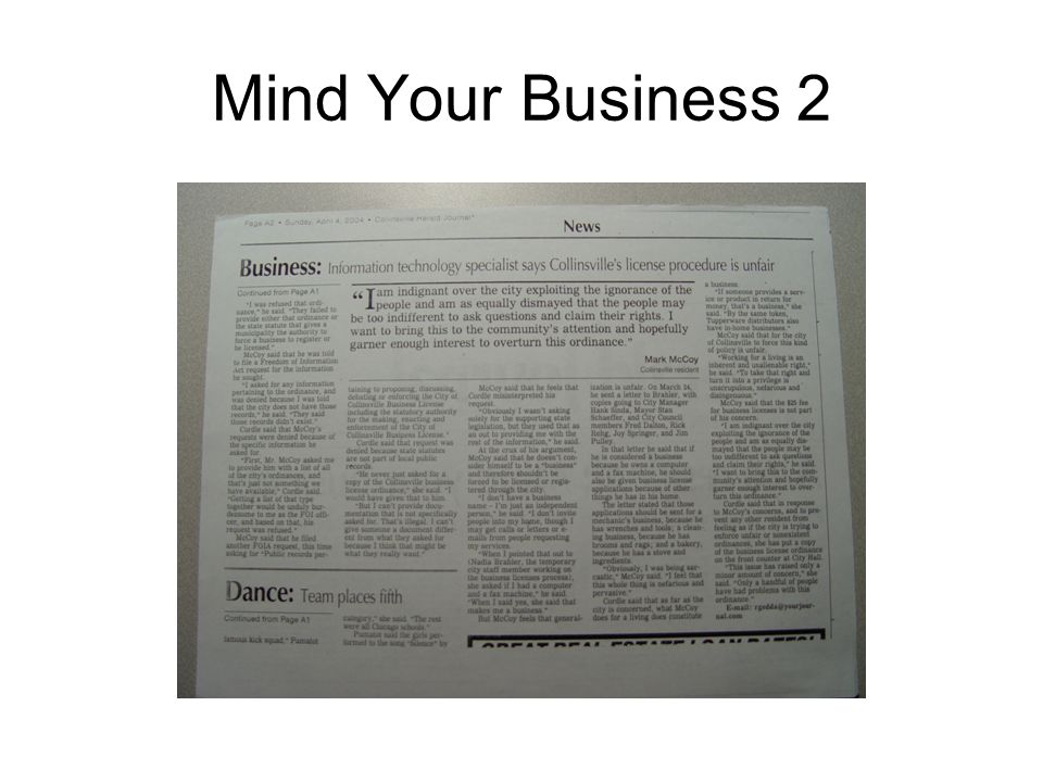 Mind Your Business 2