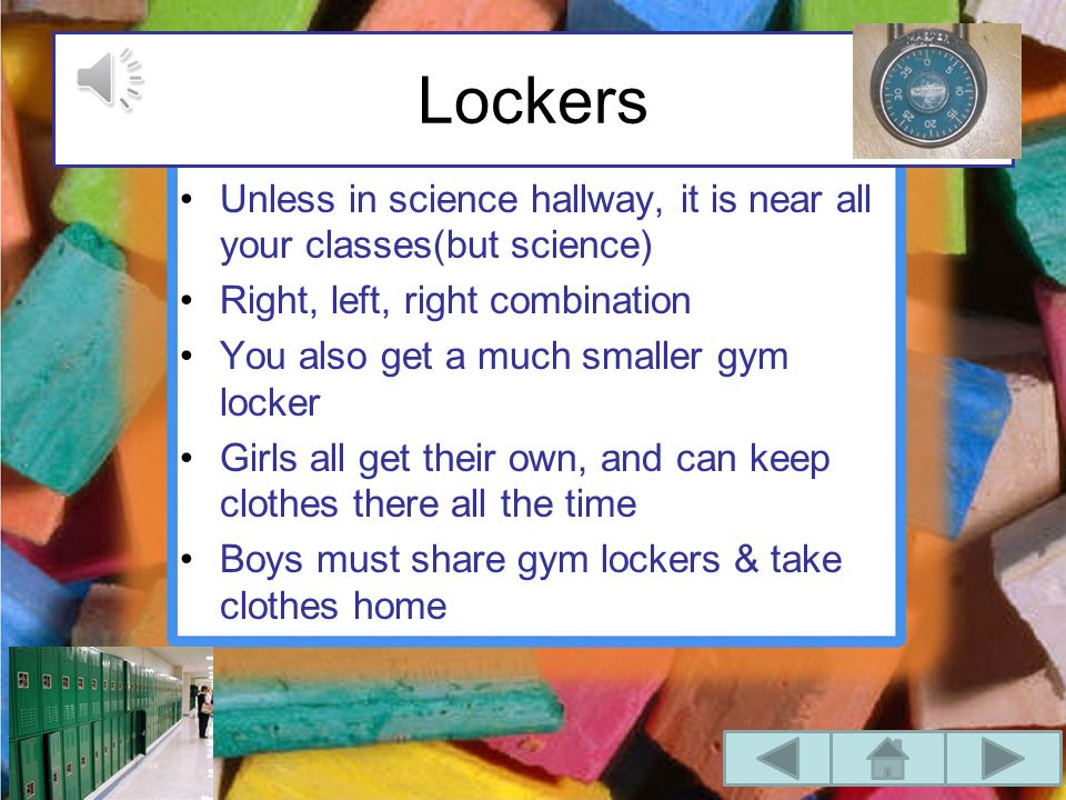 Expectations Be in Homerooms by 8:05 Get to classes on time Do ALL homework Stay organized (binders and lockers)