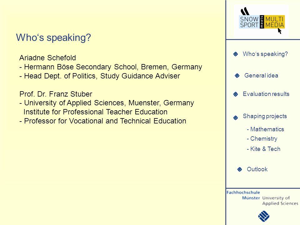 Whos speaking.