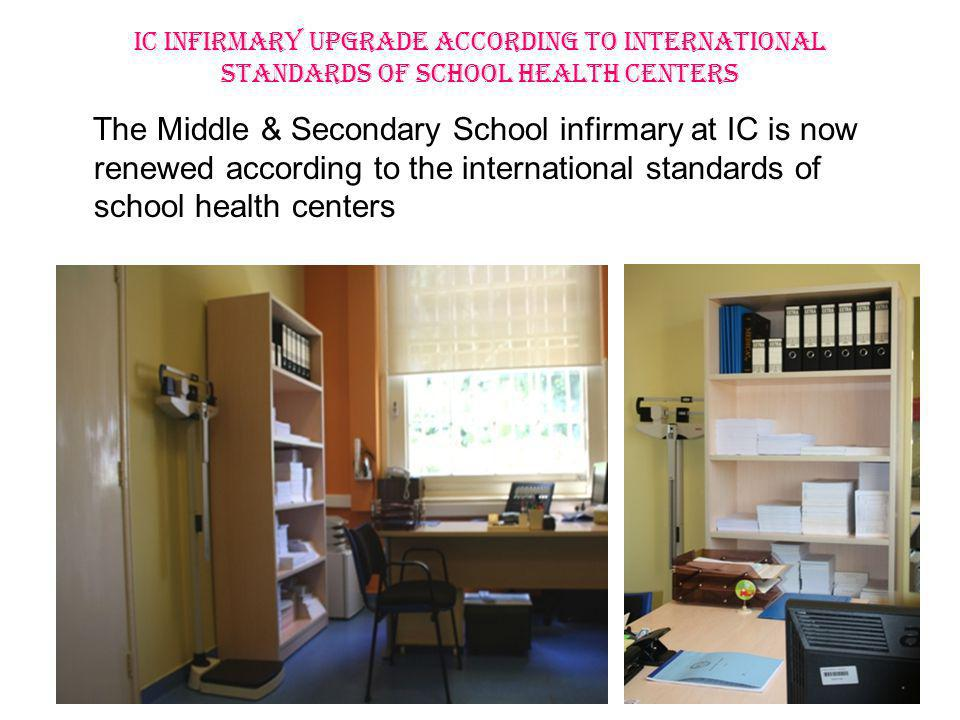 Mission International STANDARDS Infection Control measures Design & DECORATION Infirmary services New Clinic Furnishings New Medical Supplies