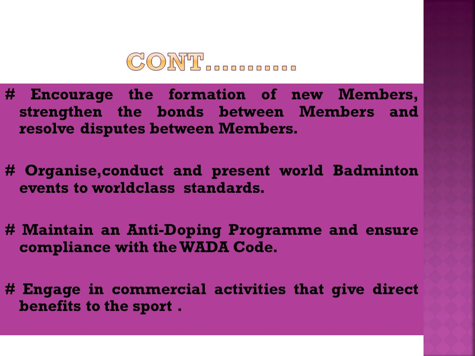 Equal Opportunity Non Discrimination and Ethics Environmental Responsibility Fair Play Sport for All Harassment Free Sport