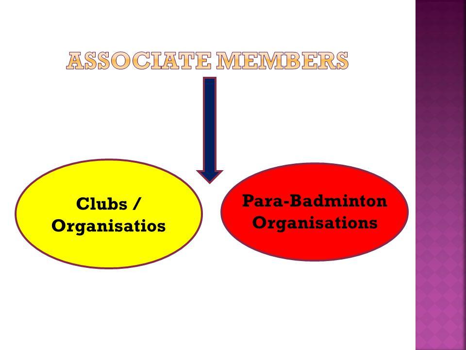 Clubs / Organisatios Para-Badminton Organisations