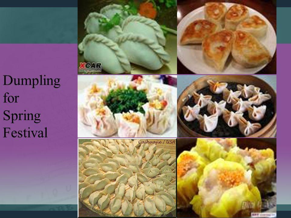 Dumpling for Spring Festival