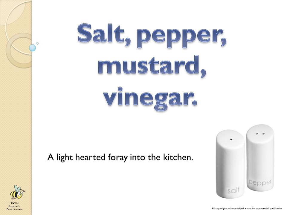 A light hearted foray into the kitchen.
