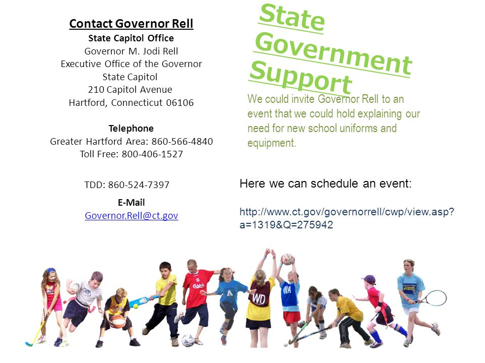 Contact Governor Rell State Capitol Office Governor M.