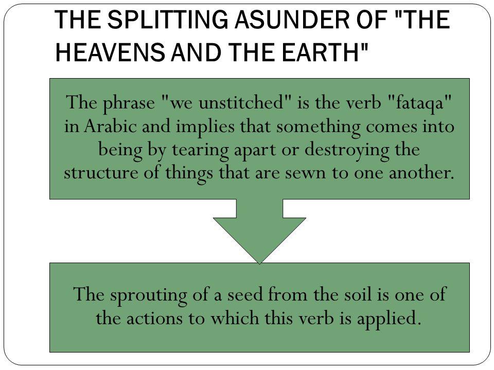 THE SPLITTING ASUNDER OF