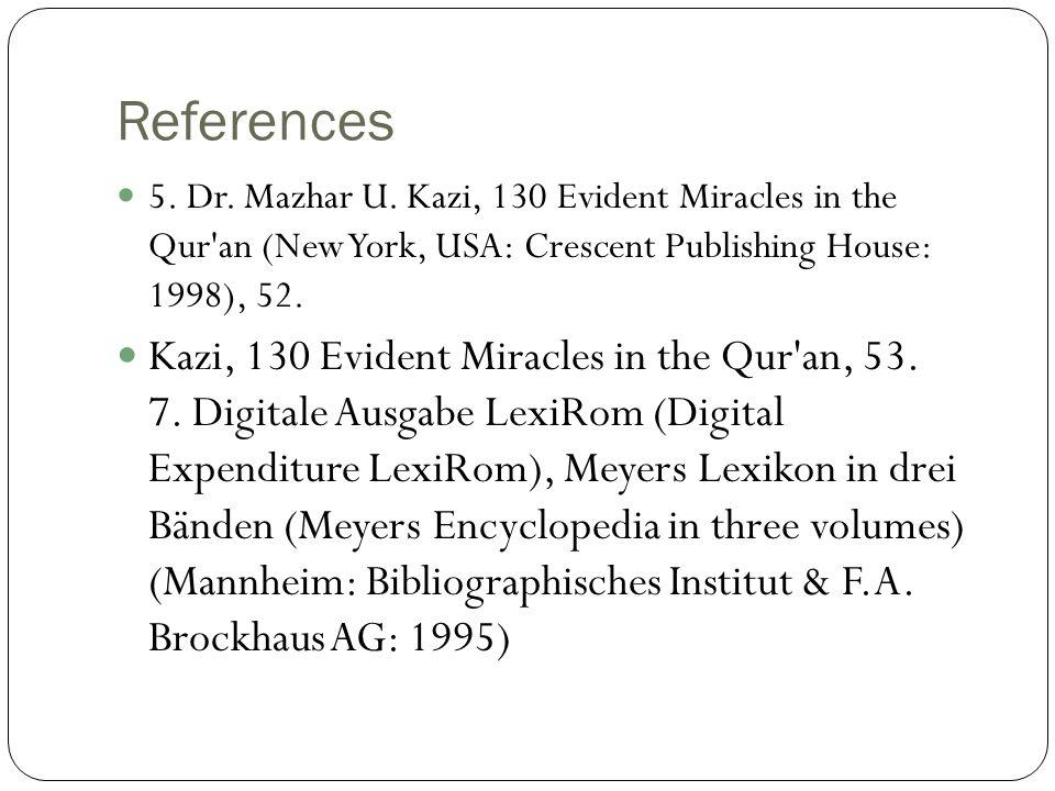 References 5. Dr. Mazhar U.