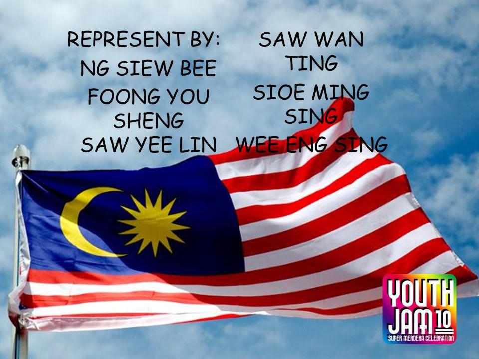REPRESENT BY: NG SIEW BEE FOONG YOU SHENG SAW YEE LIN SAW WAN TING SIOE MING SING WEE ENG SING