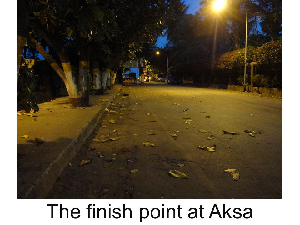 The finish point at Aksa