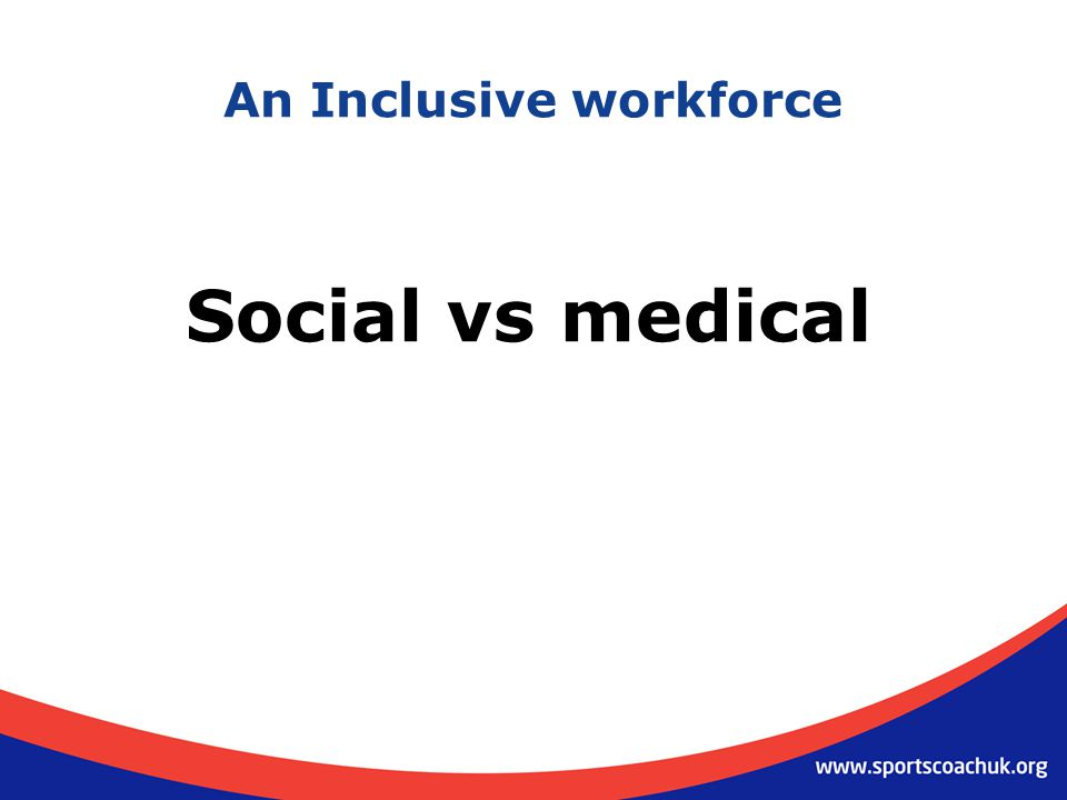 An Inclusive workforce Social vs medical