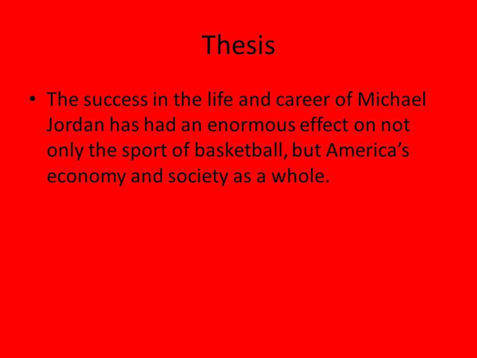 Michael Jordans influence on basketball