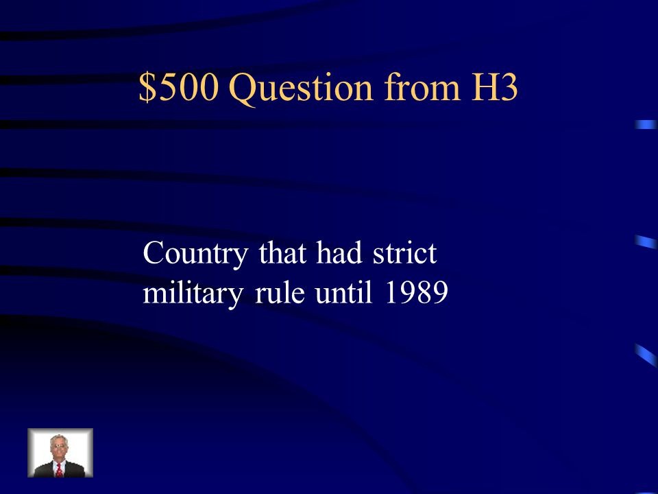 $400 Answer from H3 What is Colombia