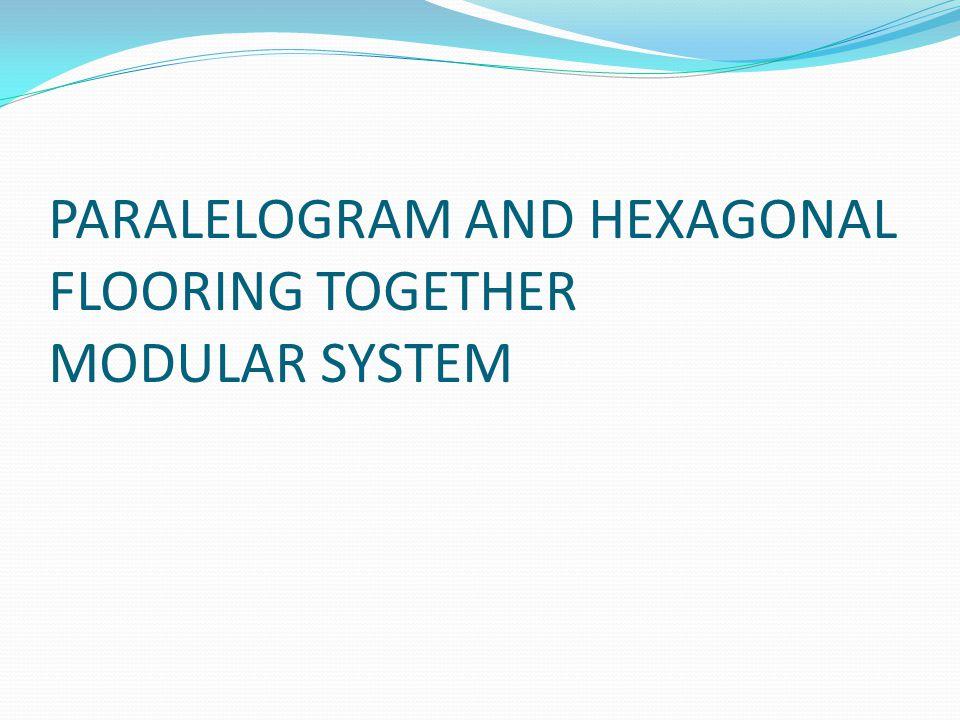 PARALELOGRAM AND HEXAGONAL FLOORING TOGETHER MODULAR SYSTEM