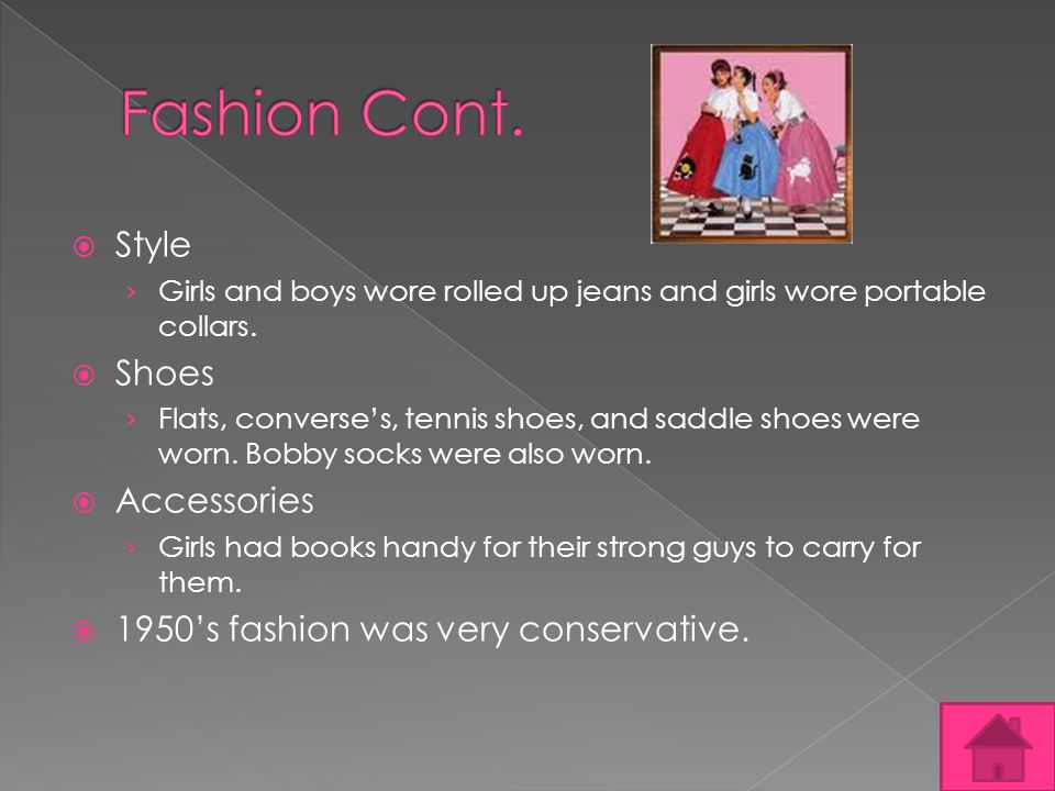 Style Girls and boys wore rolled up jeans and girls wore portable collars.