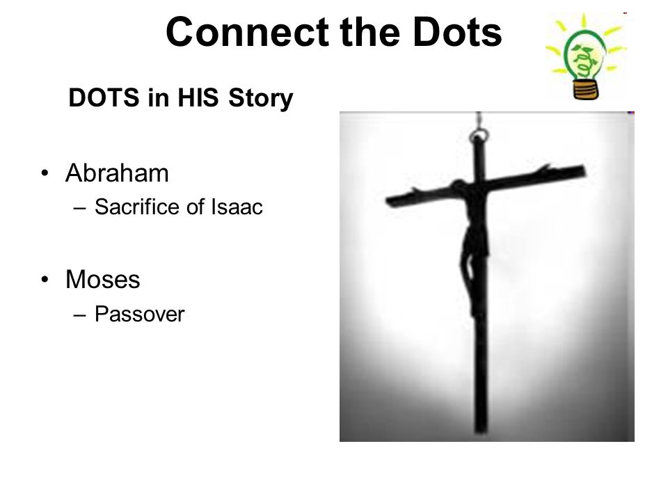 DOTS in HIS Story Abraham –Sacrifice of Isaac Moses –Passover
