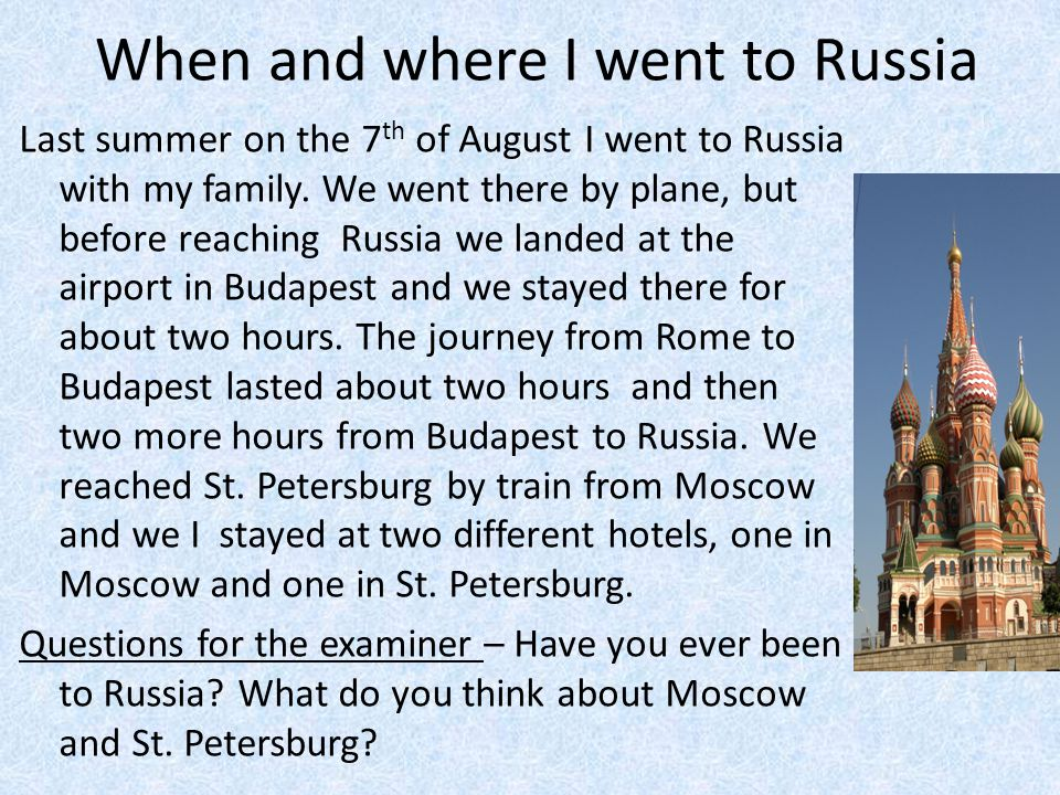 The differences between Moscow and St.