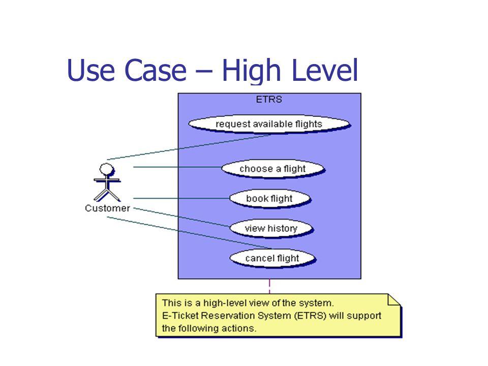 Use Case – High Level