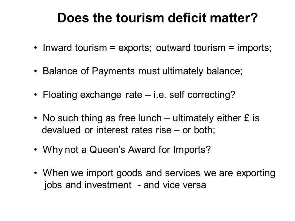 Does the tourism deficit matter.