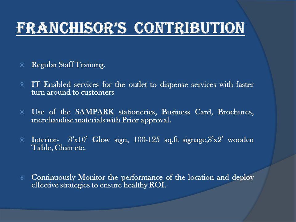 franchisors Contribution Regular Staff Training.