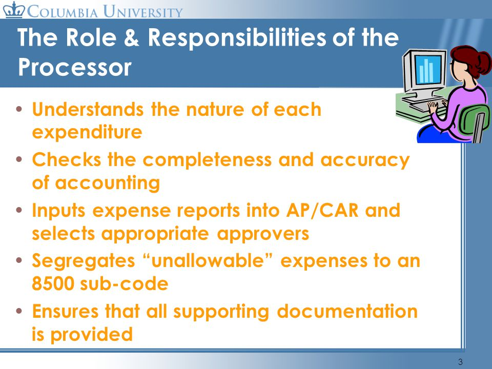 4 The Role & Responsibilities of the Designated Approver (DAF) Understands nature of the expense Completeness of documentation and accuracy of accounting Segregation of unallowable expenses Compliance with University policy and funding agency regulations Absence of a conflict of interest (employees duty and responsibility to conduct business matters solely for the benefit of the University ) Appropriateness of expense and availability of funding