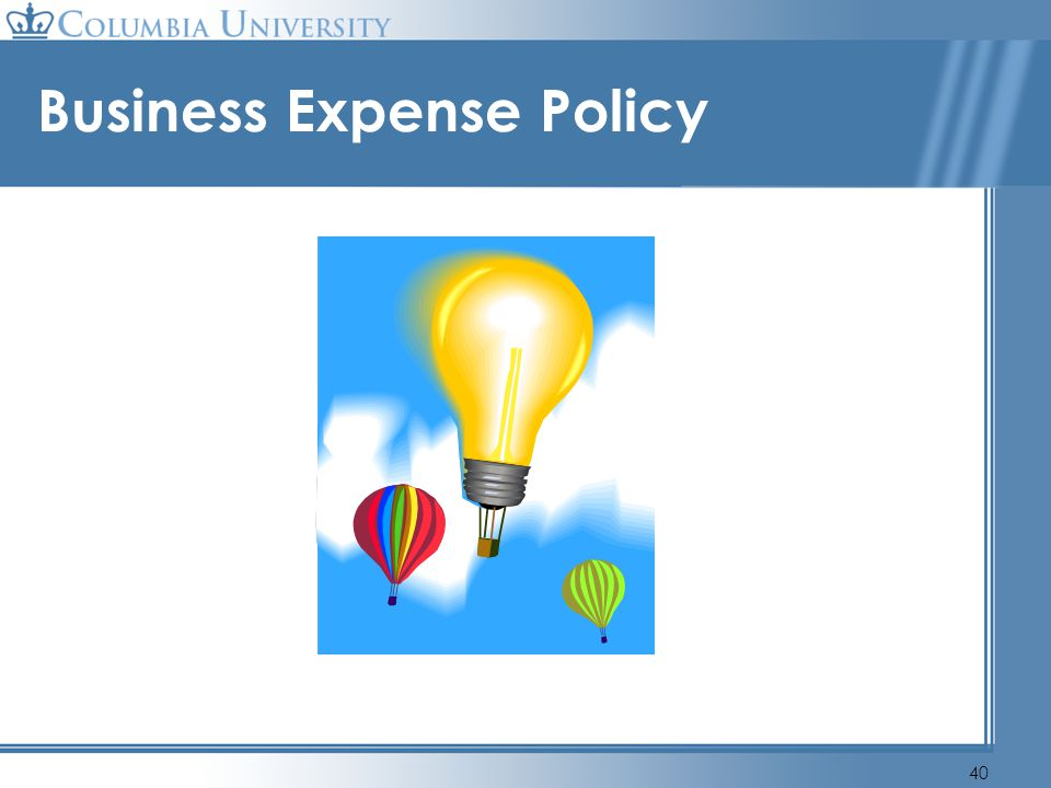 40 Business Expense Policy