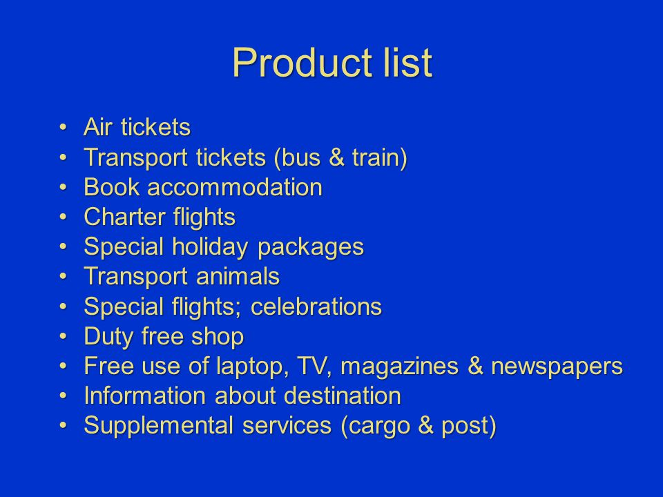 Product list Air ticketsAir tickets Transport tickets (bus & train)Transport tickets (bus & train) Book accommodationBook accommodation Charter flight