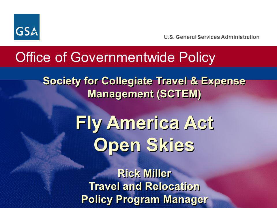 Office of Governmentwide Policy U.S.
