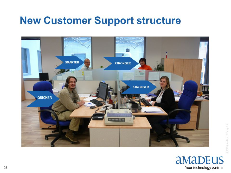 © 2009 Amadeus IT Group SA 25 New Customer Support structure SMARTER QUICKER STRONGER