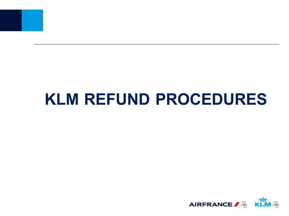 KLM REFUND PROCEDURES