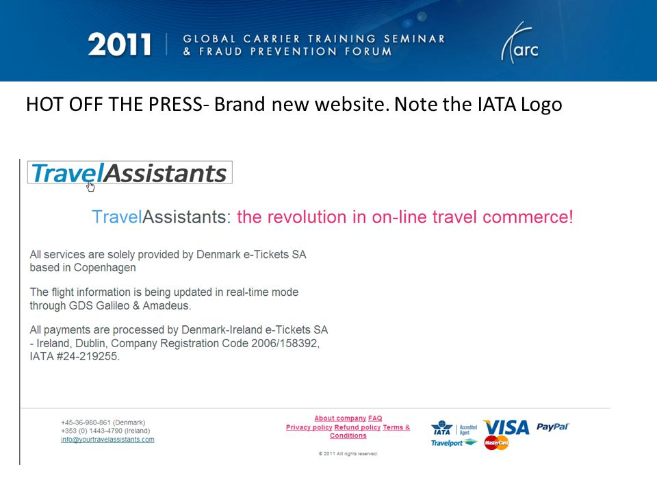 TravelFast - Same phone number as TravelAssistants