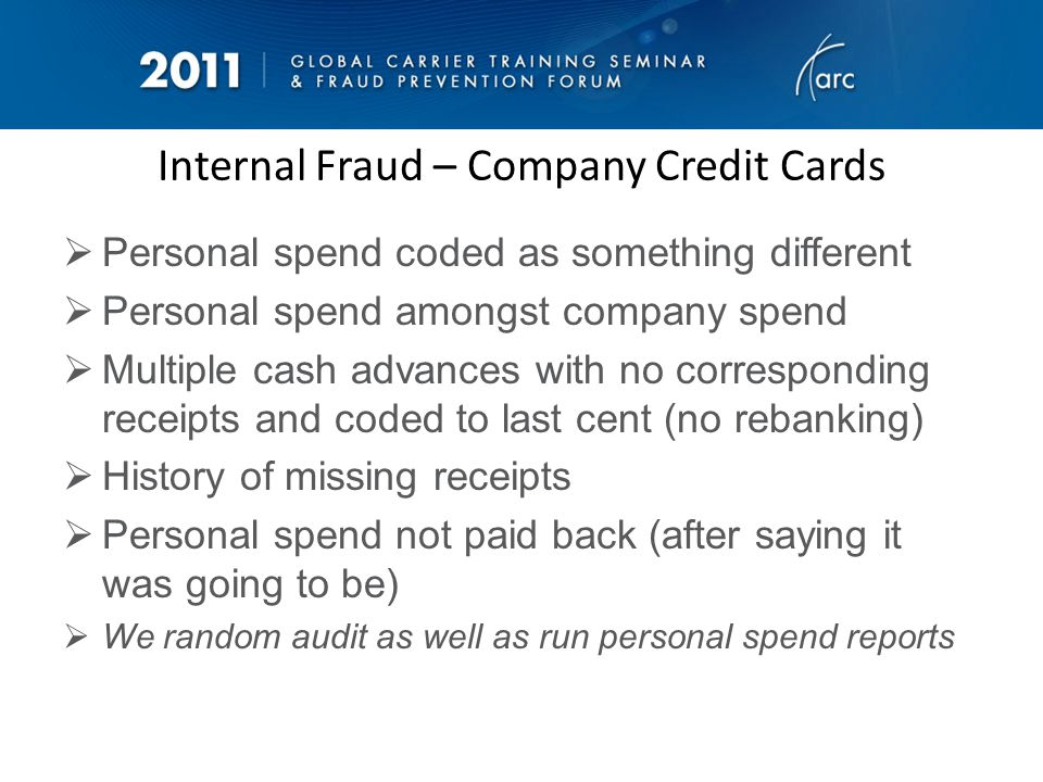 Internal Fraud – Airport Operations Excess baggage not collected Excess baggage fees collected but not put through for banking (cash) Asking non-related people to take baggage as part of their allowance Upgrading friends/family No-reccing pax on to get around reissuing a ticket and break fare rules Using generic sines to alter ticketing for family and friends