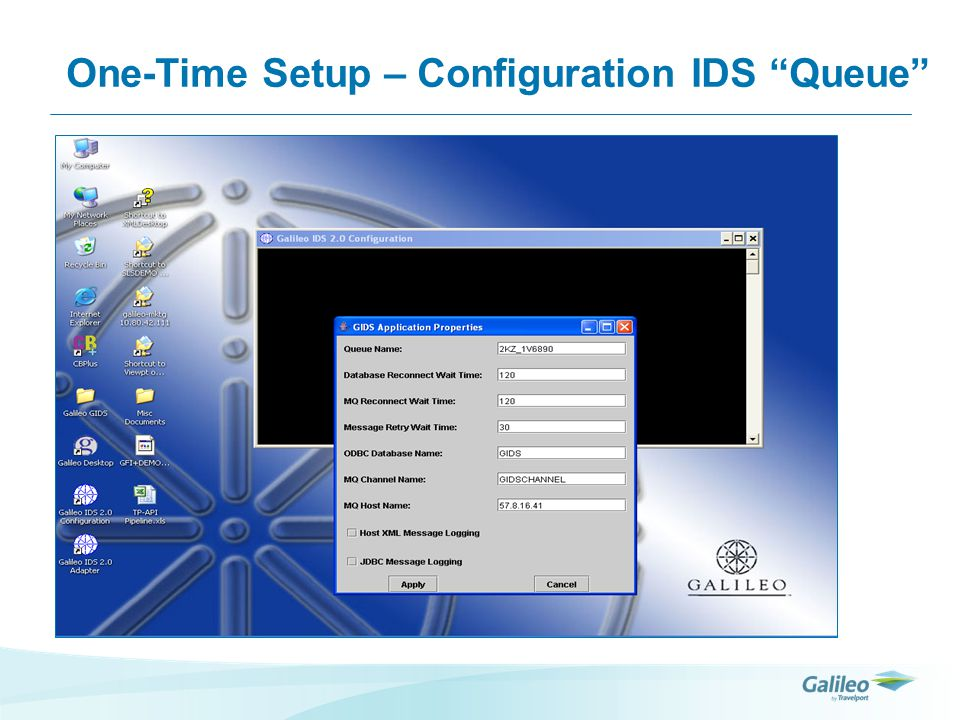 One-Time Setup – Configuration IDS Queue