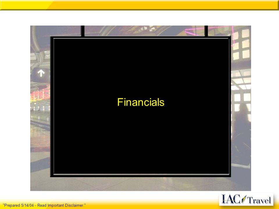 Financials Prepared 5/14/04 - Read Important Disclaimer.