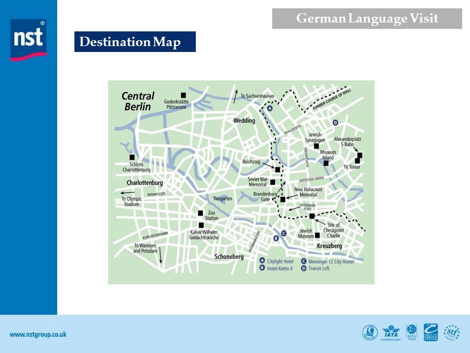Destination Map German Language Visit