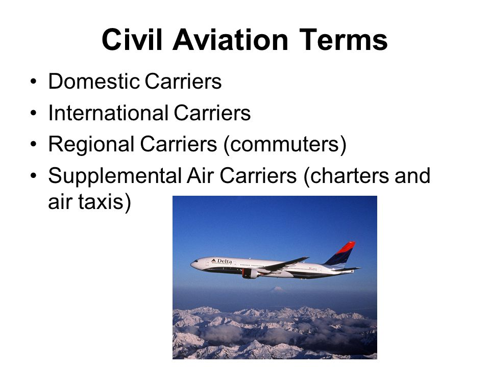 Definitions Slots – The time a plane can land, be at a gate, and take off Scheduled Service – Flights made over regularly flown routes according to a published timetable Nonscheduled Flights – Planes hired to fly to a particular place at a time specified by the customer – also could be a charter flight