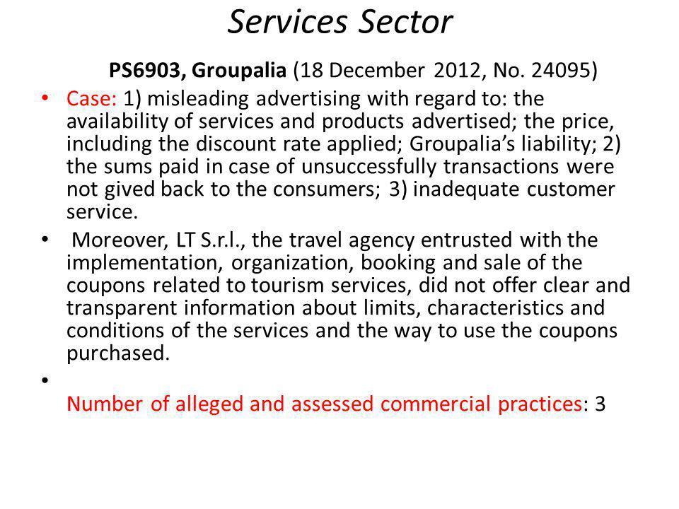 Services Sector PS6903, Groupalia (18 December 2012, No.