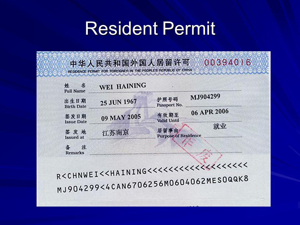 Resident Permit