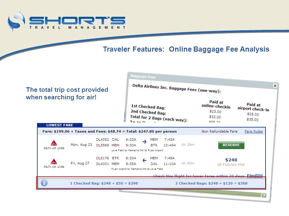 Mobile Applications Integrated with Shorts Travel reservations Receive mobile itineraries Receive flight notifications Additional mobile travel tools are available Compatible with Blackberry Mobile Devices Sign-Up today at www.worldmate.comwww.worldmate.com There is a free version or a personal charge for the upgraded version (Not State Reimbursable)