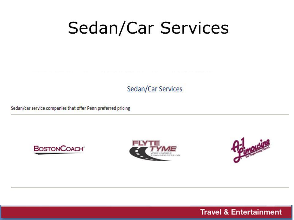 Sedan/Car Services
