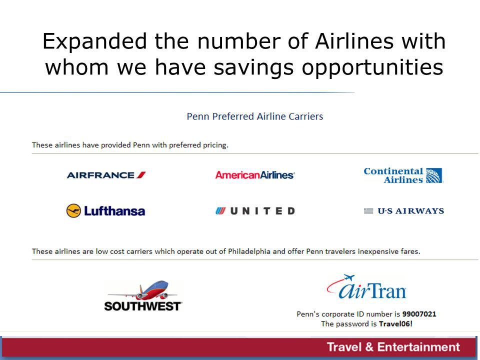 Sample Airline page s