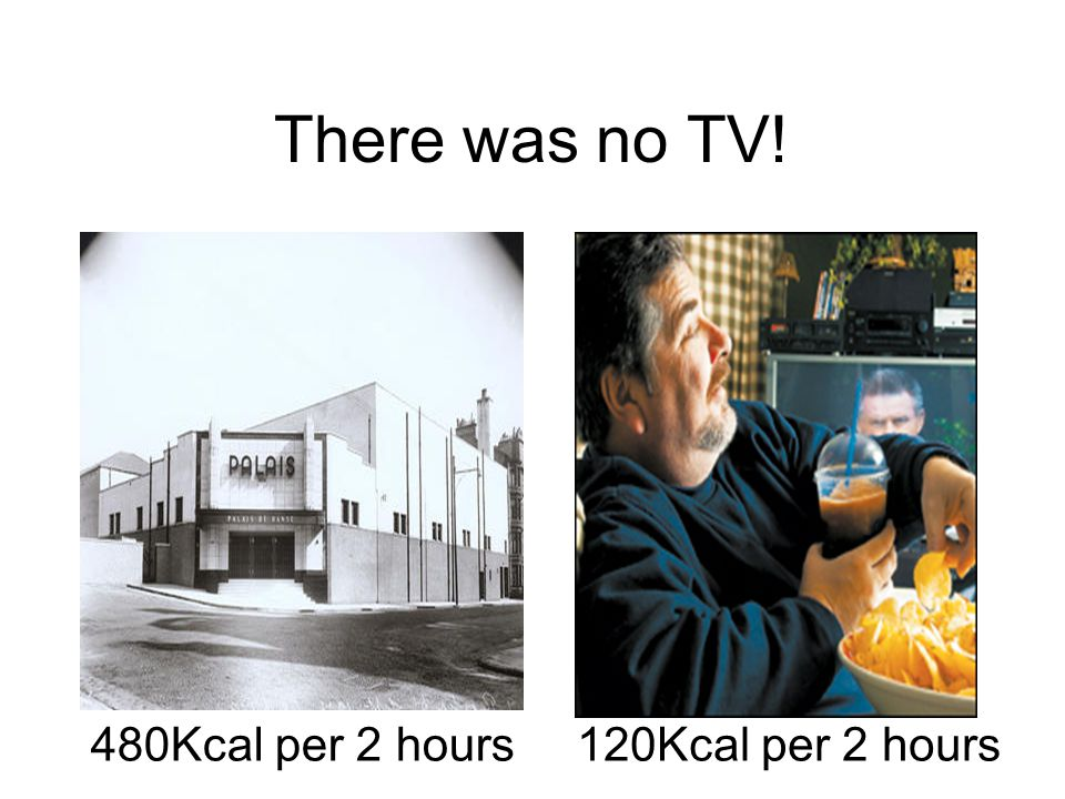 There was no TV! 480Kcal per 2 hours120Kcal per 2 hours