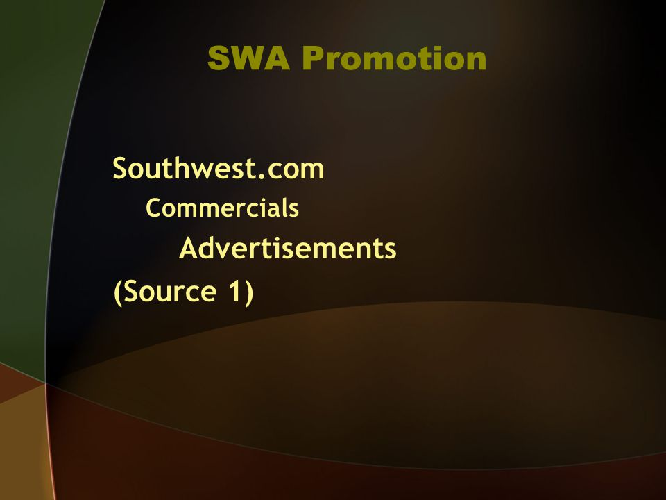 Bibliography Source 1 -Southwest Airlines.