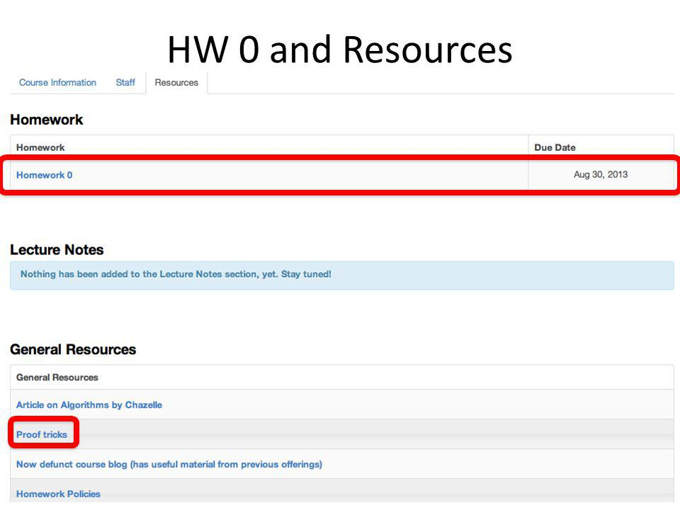 HW 0 and Resources