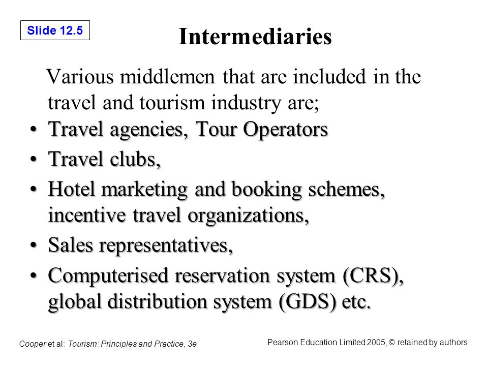 Slide 12.36 Cooper et al: Tourism: Principles and Practice, 3e Pearson Education Limited 2005, © retained by authors Related Web Sites http://www.abta.com http://www.travelmole.com http://www.tuigroup.com http://www.tursab.org.tr