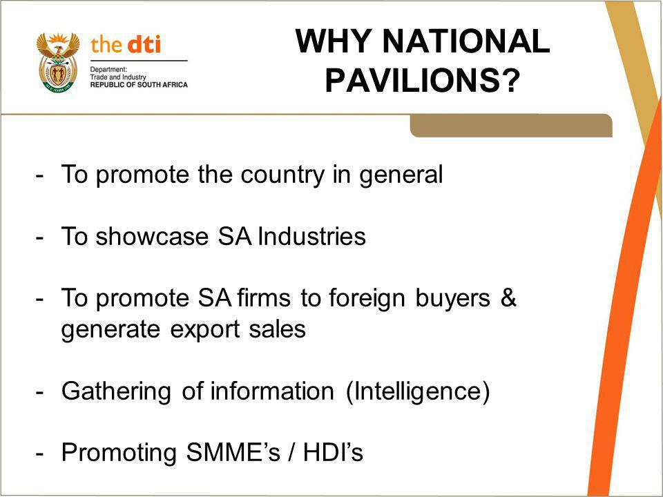 WHY NATIONAL PAVILIONS.