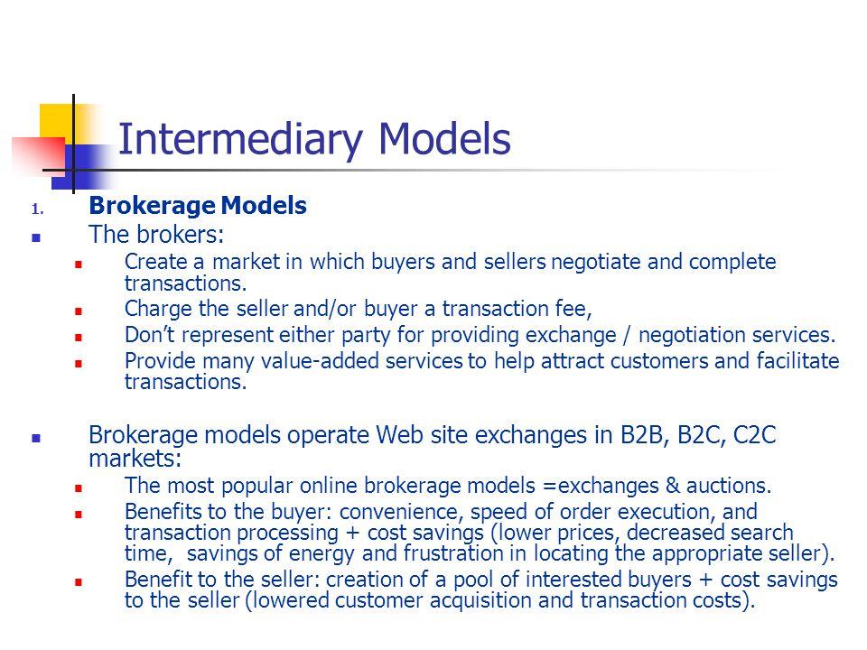 Intermediary Models 1.